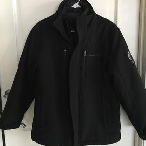 Weatherproof black boys winter coat- 2 coats in 1